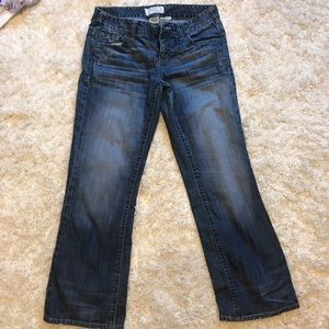 Maurices Ashlyn bootcut jeans 7/8 short